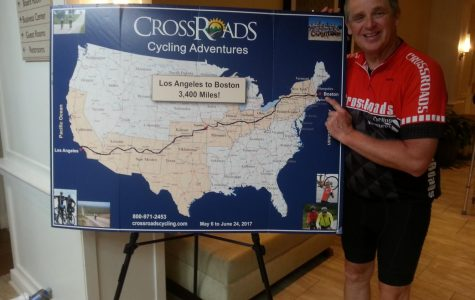 Mr. Sorn pedals his way across America