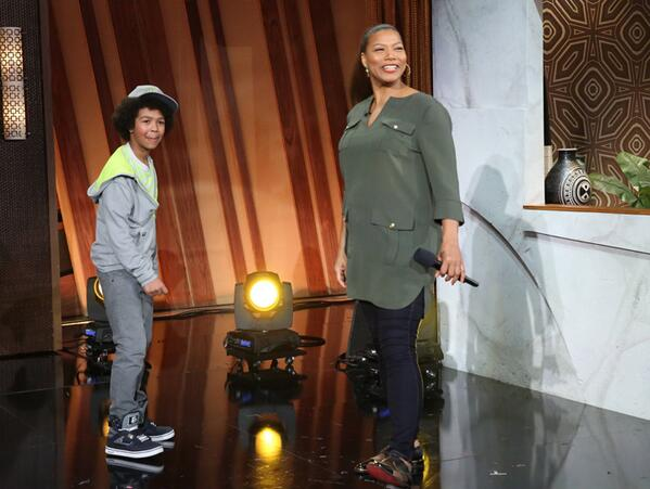 11 Year old Shane with Queen Latifah