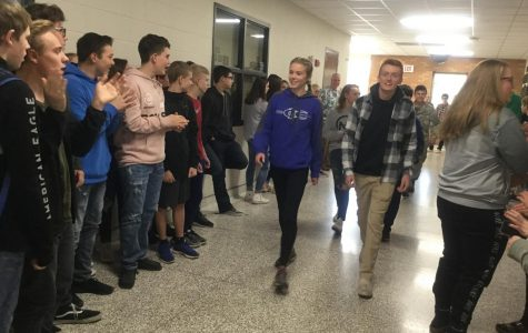 Jessica Illg and Dylan Larson honored with Champions Walk